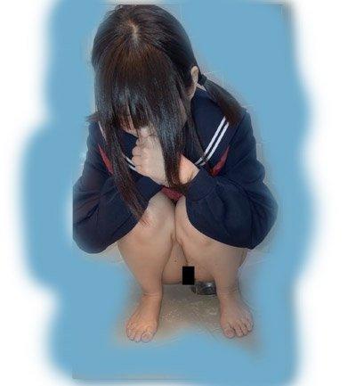 脅6「んっ…」チョロ…ジョボボ おしっこ放尿おもらし小便 黒髪セーラー童顔
