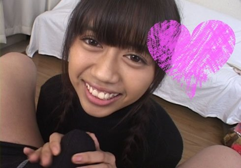 超激カワ【愛沙】亀頭ナメまくり☆オチンポ遊び☆おさな顔デカパイ