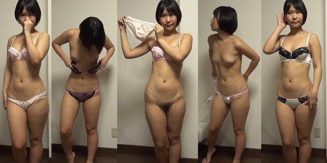 下着撮影47★隠し撮り★★パンツ★★ブラジャー★★ショートカット素人女子大生★  ★★