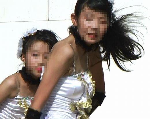 ダンス!!発育中のおっぱいの形がくっきり!!セクシー衣装が堪能できます!!264
