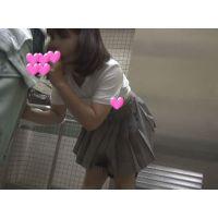 【個撮】感動!超可愛い文化系たまごちゃんみおちゃん!公衆トイレで恥じらいフェラ&手コキ発射!