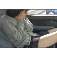 【個撮】超普通に可愛いたまごちゃん!車で生理中でもかまわずハメハメ映像(1)