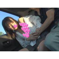 【個撮】ヤバッ!超可愛いけどしゃべってくれないツンデレたまごちゃん!車内フェラ口内発射映像