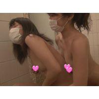 【個撮】バカたまごちゃんあやちゃんが友達つれてきた~!お風呂で洗いっこフェラ映像