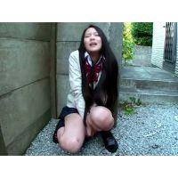 【プライベートプレイ個撮】パイパン変態彼女に野外でオナニーをさせてみました‼︎