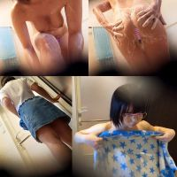 【本気盗撮】ショートカットが似合う白肌巨乳な少女 カメラ前でお尻を広げる卑猥なポーズを見せつける 着替えお風呂を盗撮
